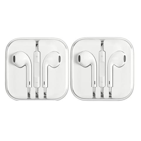 Apple Earphones for iPhone 6 5 4S w/ Remote & Mic - 2 Pack