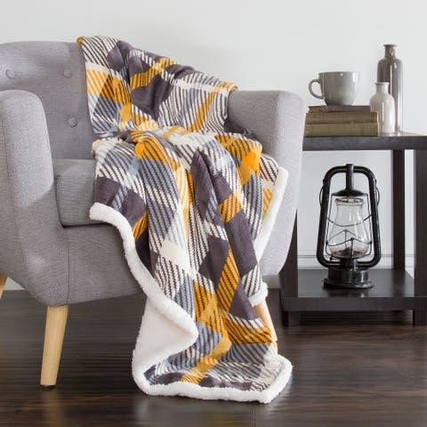 Windsor Home Fleece Sherpa Throw