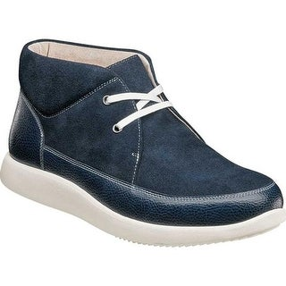 Stacy Adams Men's Buckley Moc Toe Chukka Navy Suede