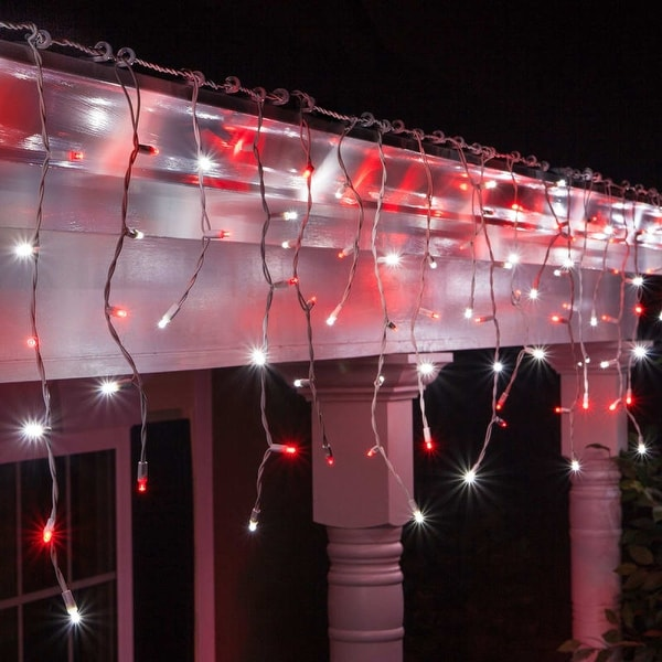 Wintergreen Lighting 72026 70 Bulb 7 1/2 Foot Long LED Decorative Holiday Icicle Lights with Wire