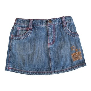 Disney Little Girls Blue High School Musical Star Embroidery Denim Skirt 4-6X
