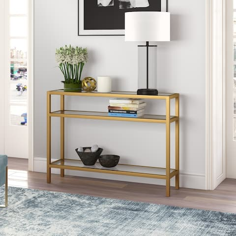 Sivil Console Table in Brass