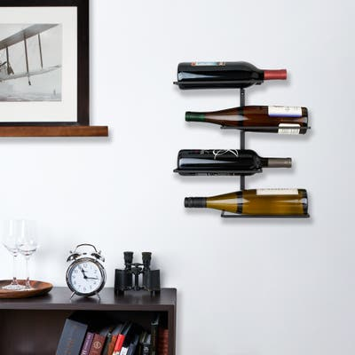 """Four Bottle Wall Mounted Wine Rack by True - 14.75"""" x 14.25"""""""