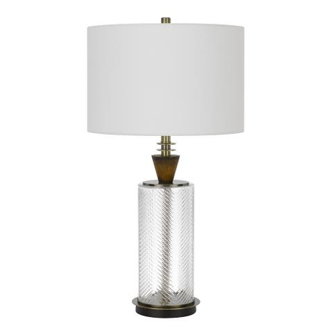 Sherwood Dark Bronze Glass Table Lamp with Shade