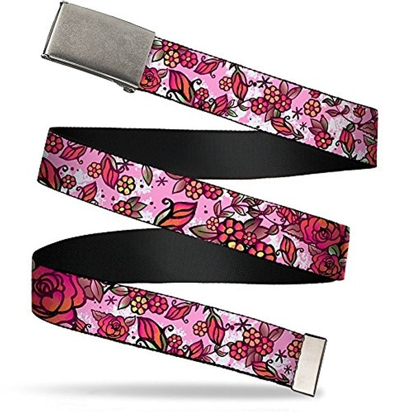 """Buckle-Down Web Belt Born To Blossom Tattoo 1.5"""""""