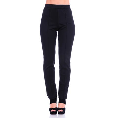 192afb0fe9c Simply Ravishing Women s Solid Stretch Straight Leg Slim Fit Pants
