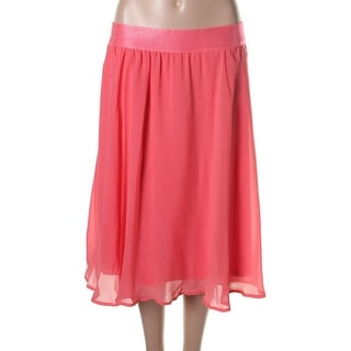 Cupio Womens Sheer Knee-Length A-Line Skirt - M