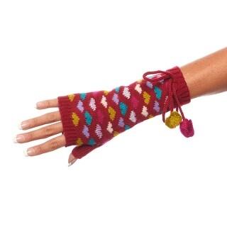 Hot Hearts Double Layer Fingerless Wrist Warmers