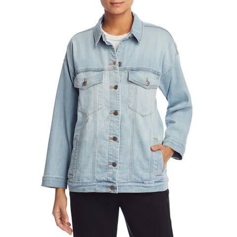 Eileen Fisher Womens Jean Jacket Fall Denim
