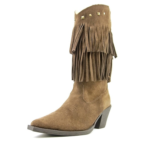 Roper short stuff Pointed Toe Suede Mid Calf Boot