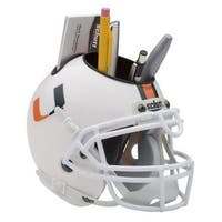 Miami Hurricanes NCAA Football Schutt Mini Helmet Desk Caddy