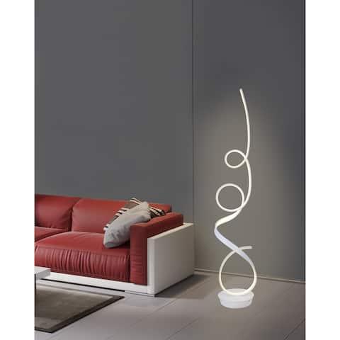 Unique Modern Integrated LED Floor Lamp, matte white - 63.00