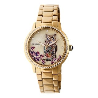Bertha Madeline Women's Quartz Watch, Mother of Pearl Dial, Stainless Steel Band, Sapphire-Coated Crystal, Luminous Hands