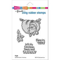Stampendous Cling Stamp -Sloth Christmas
