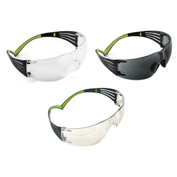 3M SF400-W-3PK Secure-Fit 400 Anti-Fog Eye Protection Glasses, set of 3