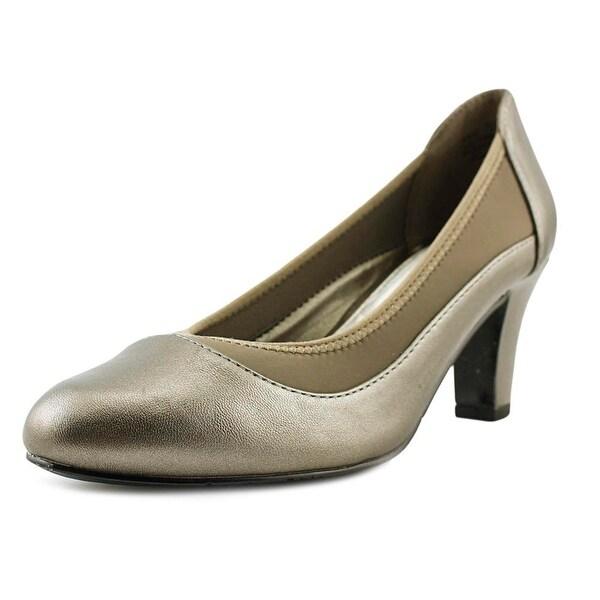 Easy Street Jordan Women W Round Toe Synthetic Gray Heels