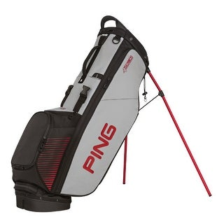 New Ping 4-Series Golf Stand Bag (Black / Gray / Red) - black / gray / red