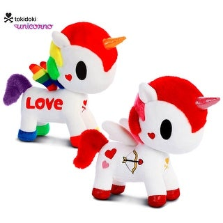 "Love Bundle - Tokidoki - Valentino 7.5"" and Rainbow Love 7.5"" High Quality Plush (2 Items)"