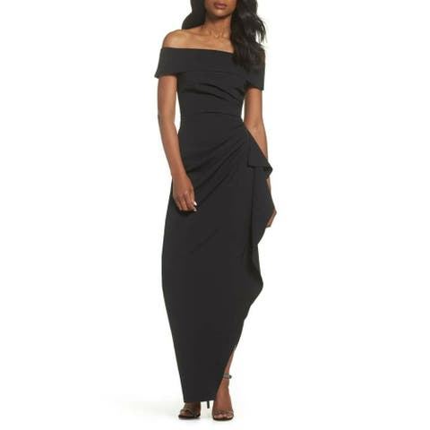 Vince Camuto Women's Dress Gown Off-Shoulder Pleated