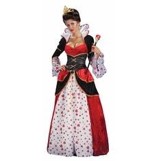 Disney Womens Queen Of Hearts Halloween Costume - standard - one size