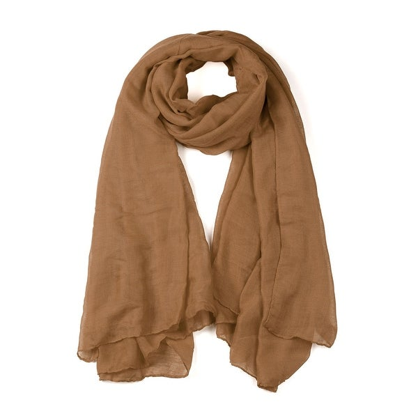 Soft Lightweight Long Scarves With Solid Color Shawl For Women Men Khaki