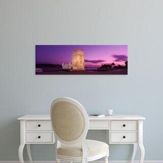 Easy Art Prints Panoramic Images's 'Portugal, Lisbon, Belem Tower' Premium Canvas Art