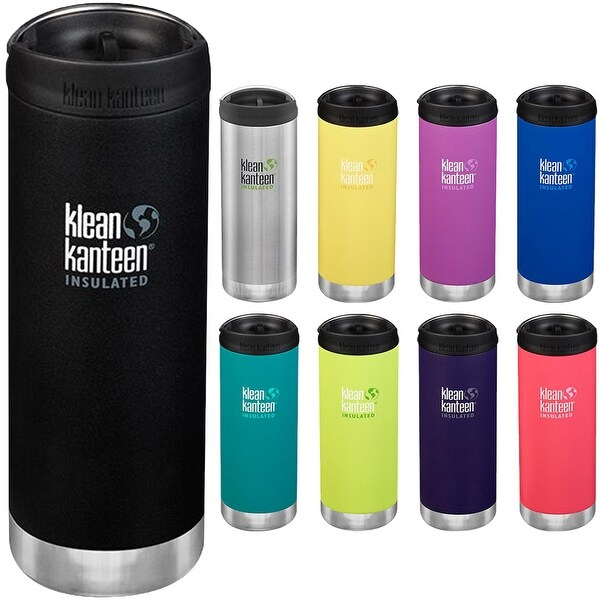 Klean Kanteen 16 oz. TKWide Insulated Stainless Steel Bottle with Cafe Cap. Opens flyout.
