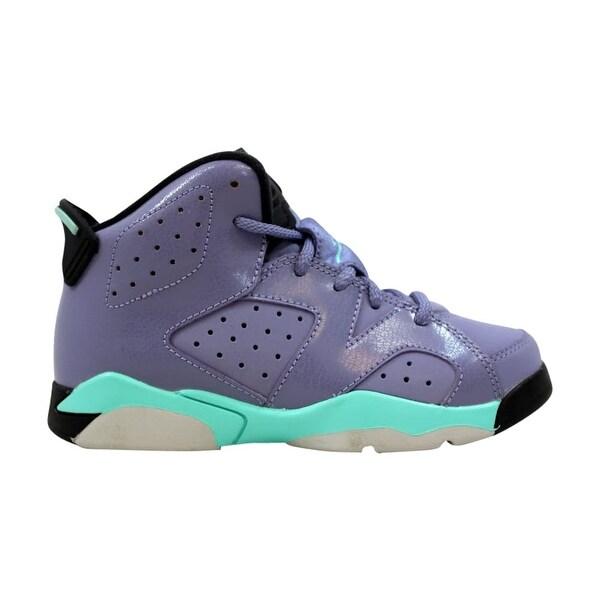 71a17b6f7274d7 Nike Air Jordan VI 6 Retro GP Iron Purple Bleached Turquoise-Black 543389-