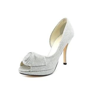 Caparros Baldwin Women Open Toe Synthetic Silver Platform Heel