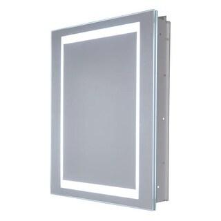 "Miseno MMCR2026LED-L 26"" W x 20"" H Frameless Recess Mounted Single Door Medicinc"