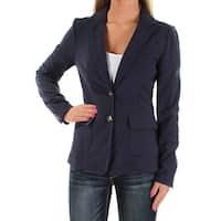 MAISON JULES Womens Navy Blazer Wear To Work Jacket  Size: XS