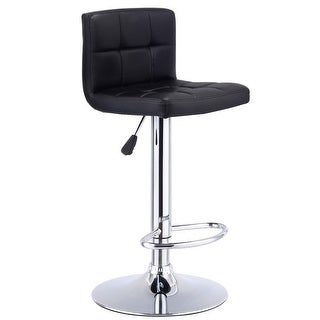 Costway 1 PC Bar Stool Swivel Adjustable PU Leather Barstools Bistro Pub Chair Black  sc 1 st  Overstock.com & Adjustable Bar u0026 Counter Stools - Shop The Best Deals for Nov 2017 ... islam-shia.org