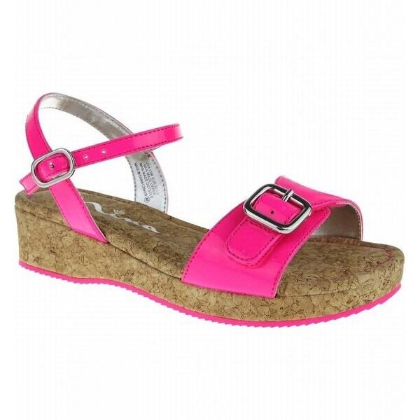 Shop Nina Kids NEW Pink Girls Shoes Size 7M Yuki-2 Cork Wedge Sandal ... 8cae6b37d80f