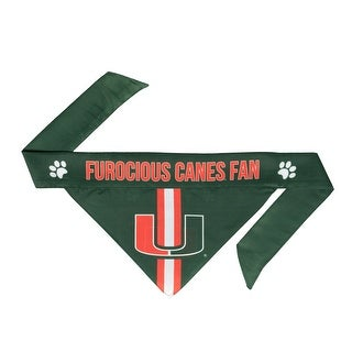 Link to Miami Hurricanes Pet Bandanna Size L Similar Items in Fan Shop