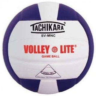Tachikara Volley-Lite Training Volleyball - Purple & White