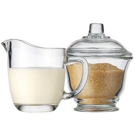 Palais Glassware High Quality Clear Sugar and Creamer Set