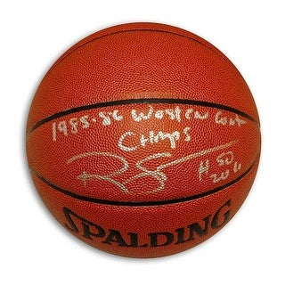 Autographed Ralph Sampson IndoorOutdoor Basketball Inscribed 198586 Western Conf Champs
