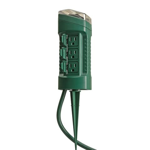 Coleman Cable 13547 6-Outlet Yard Stake With Timer