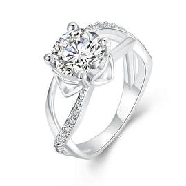 Classic White Gold Paris Inspired Ring