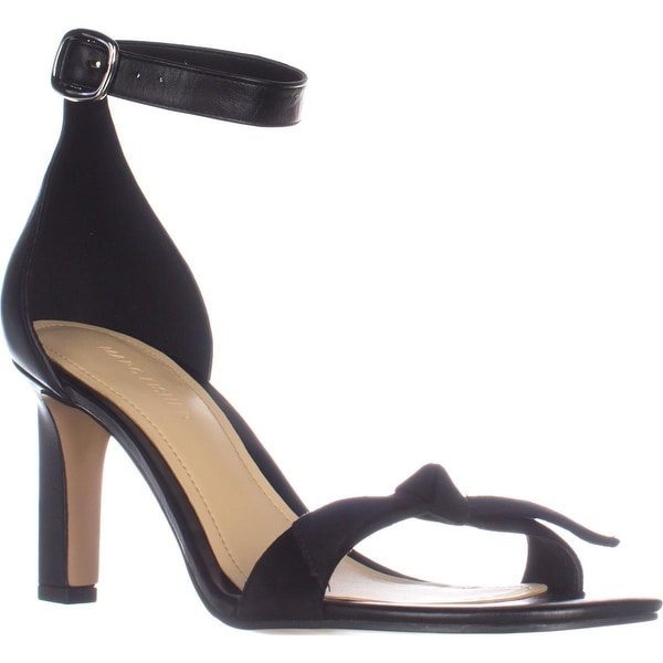 Marc Fisher Dalli Ankle Strap Heeled Sandals, Black