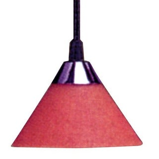Elco EDL70 Single Light Line Voltage Sconce Pendant with Black Cord and Ceiling Mount Canopy