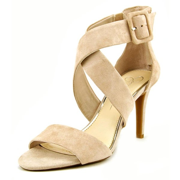 Jessica Simpson Liddy Women Open-Toe Suede Nude Heels