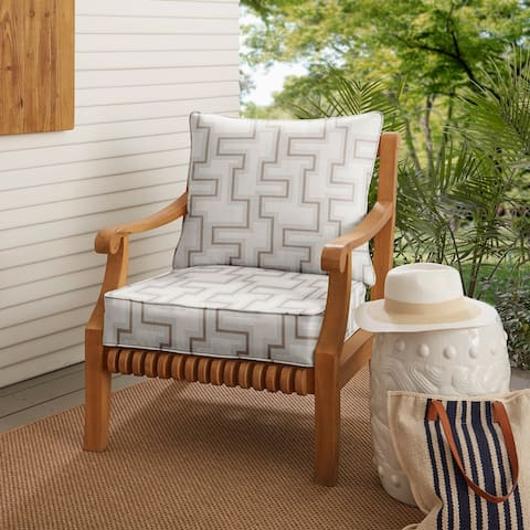 Sunbrella Resonate Dune Indoor/ Outdoor Chair Cushion Set