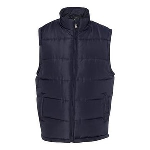 Shop Burnside Puffer Vest Navy 3xl Free Shipping On