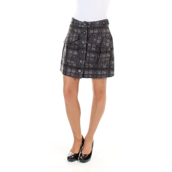 RACHEL ROY Womens Gray Above The Knee A-Line Wear To Work Skirt Size: 2