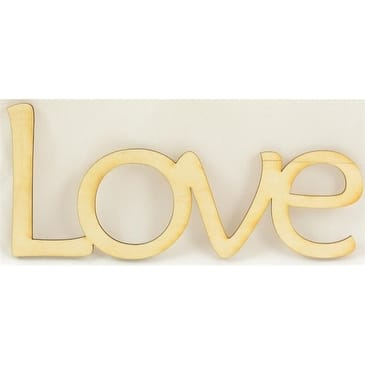 """1 Pc, 6.25"""" X 2 3/8"""" Bold & Matte Black Welded Word Love For Home & Events Decor"""
