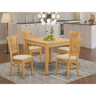 Link to 5-piece Oak Square Kitchen Table and Chairs Set Similar Items in Dining Room & Bar Furniture