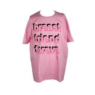 Jem Pink Graphic-Print T-Shirt XL