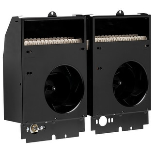 Cadet CST308  Com-Pak Twin 10240 BTU Electric Wall Heater Assembly - Black