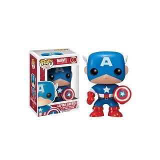 Funko POP Captain America Vinyl Bobble-Head Figure - Multi